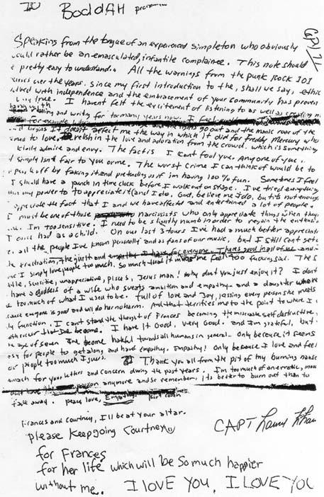 Kurt Cobains självmordsbrev